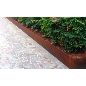 Bordure ad incastro in corten