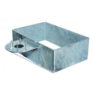 Base rettangolare in acciaio 42/BSZ