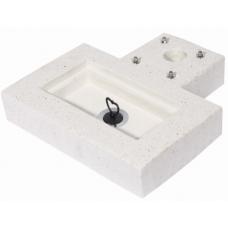 Base in graniglia levigata color bianco 42/BSC/8