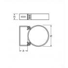 Fascetta/collare a muro regolabile 50 - 80 mm