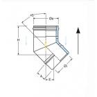 Curva a 45° coassiale polipropilene (PPs) inox