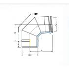 Curva a 87° coassiale polipropilene (PPs) inox