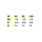 Elemento lineare da 1 m coassiale polipropilene (PPs) inox