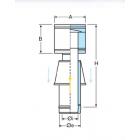 Terminale antivento con presa d'aria coassiale polipropilene (PPs) inox