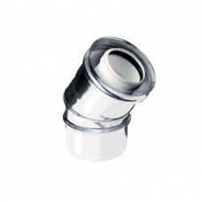 Curva a 30° coassiale polipropilene (PPs) inox