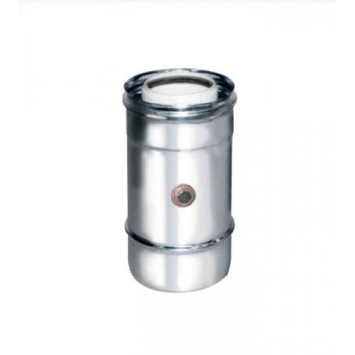 Elemento per prelievo fumi monoforo coassiale polipropilene (PPs) inox