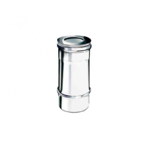 Elemento lineare da 0,25 m coassiale polipropilene (PPs) inox