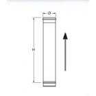 Elemento lineare INOX da 1 m monoparete
