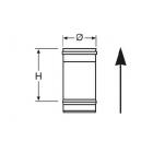 Elemento lineare INOX da 0,25 m monoparete