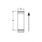 Elemento lineare da 0,50 m monoparete