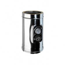 Elemento per prelievo fumi e termometro con piastra doppiaparete
