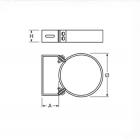 Fascetta/collare a muro regolabile 50-80 mm