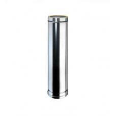 Elemento lineare INOX da 1 m doppiaparete