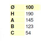 """Raccordo a """"T"""" 90° Ø 100 derivazione 80 mm femmina"""