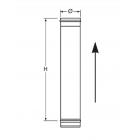 Elemento lineare da 1 m in Acciaio Inox Nero
