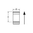 Elemento lineare da 0,25 m in Acciaio Inox Nero
