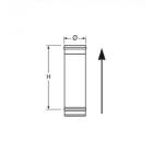 Elemento lineare da 0,5 m in Acciaio Inox Nero