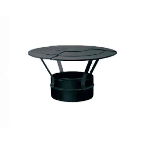 Cappello cinese inox verniciato nero monoparete