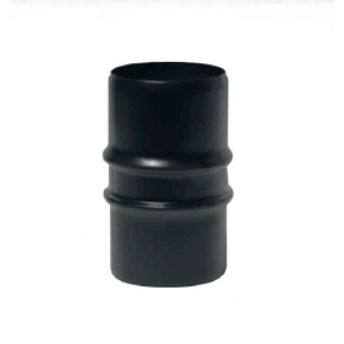 Manicotto maschio/maschio inox verniciato nero monoparete