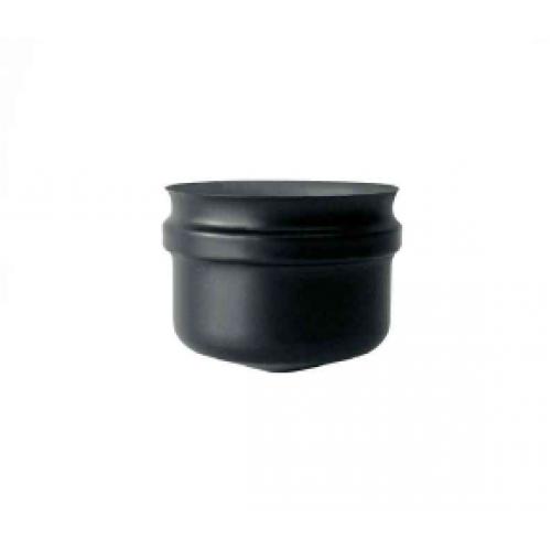 Tappo cieco senza maniglia inox verniciato nero monoparete