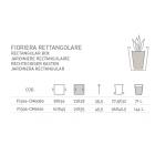 Fioriera Rettangolare Classica cm 100