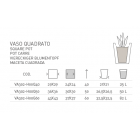 Vaso quadrato Genesis H 50