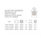 Cache-pot quadrato Genesis H 100